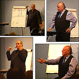 Richard Bandler and John LaValle in the seminar