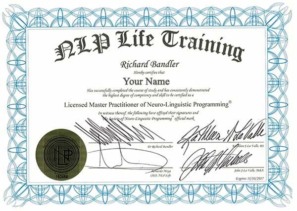NLP Master Prac Certificate
