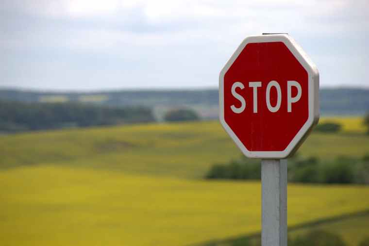 Stop Shield Traffic Sign Road